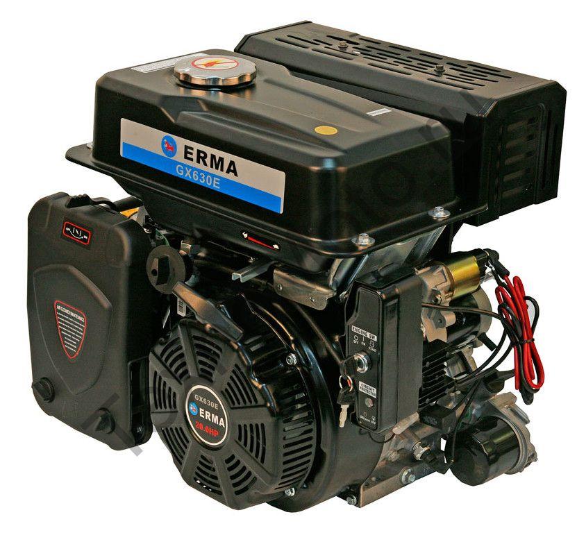 Двигатель Erma Power GX630E D25(20 л. с.) электростартер, аналог Honda GX630