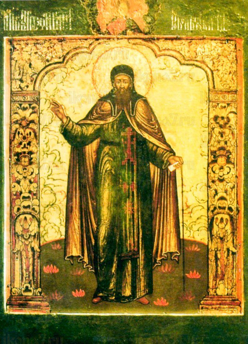 Икона Евфимий Архангелогородский (копия 17 века)