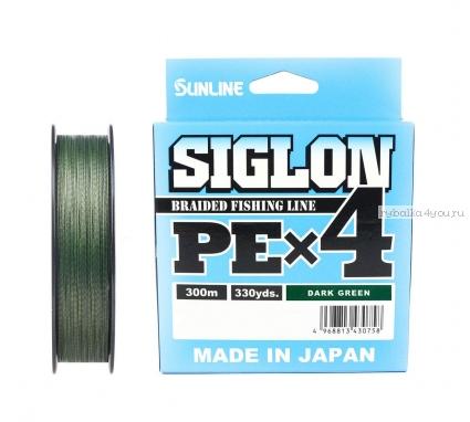 Купить Плетёный шнур Sunline Siglon PEx4 300м / цвет: Dark Green