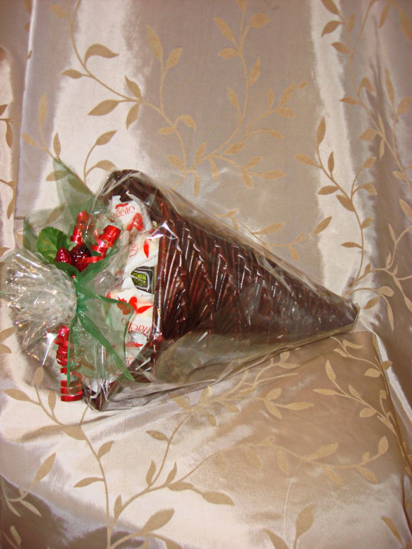 Рог Изобилия - подарочный набор с кофе, чаем и конфетами