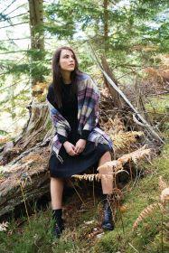 Роскошная классическая шотландская  шаль, высокая плотность, 100 % драгоценный кашемир , расцветка Roseisle (премиум)
