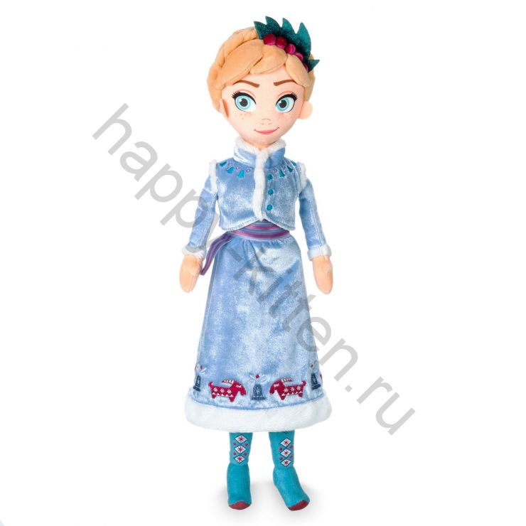 Мягкая Кукла Анна в голубом платье Диснейстор