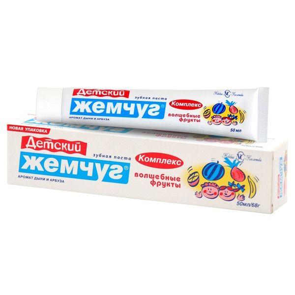 Зуб. паста Новый жемчуг 50мл Детский комплекс Волшебные фрукты а15304