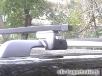 Багажник на крышу - стальные прямоугольные дуги на рейлинги Chery Tiggo FL 2005-2016, Евродеталь