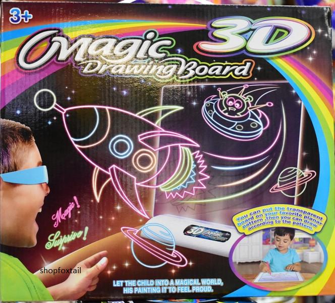 Игровой набор Magic Drawing Board с 3D-эффектом