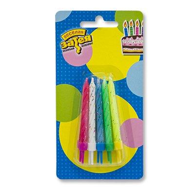 Свечи для торта с подставками блеск 10шт