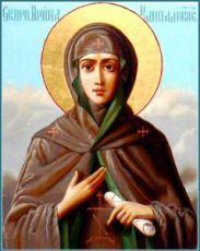 Ирина Каппадокийская (икона на дереве)