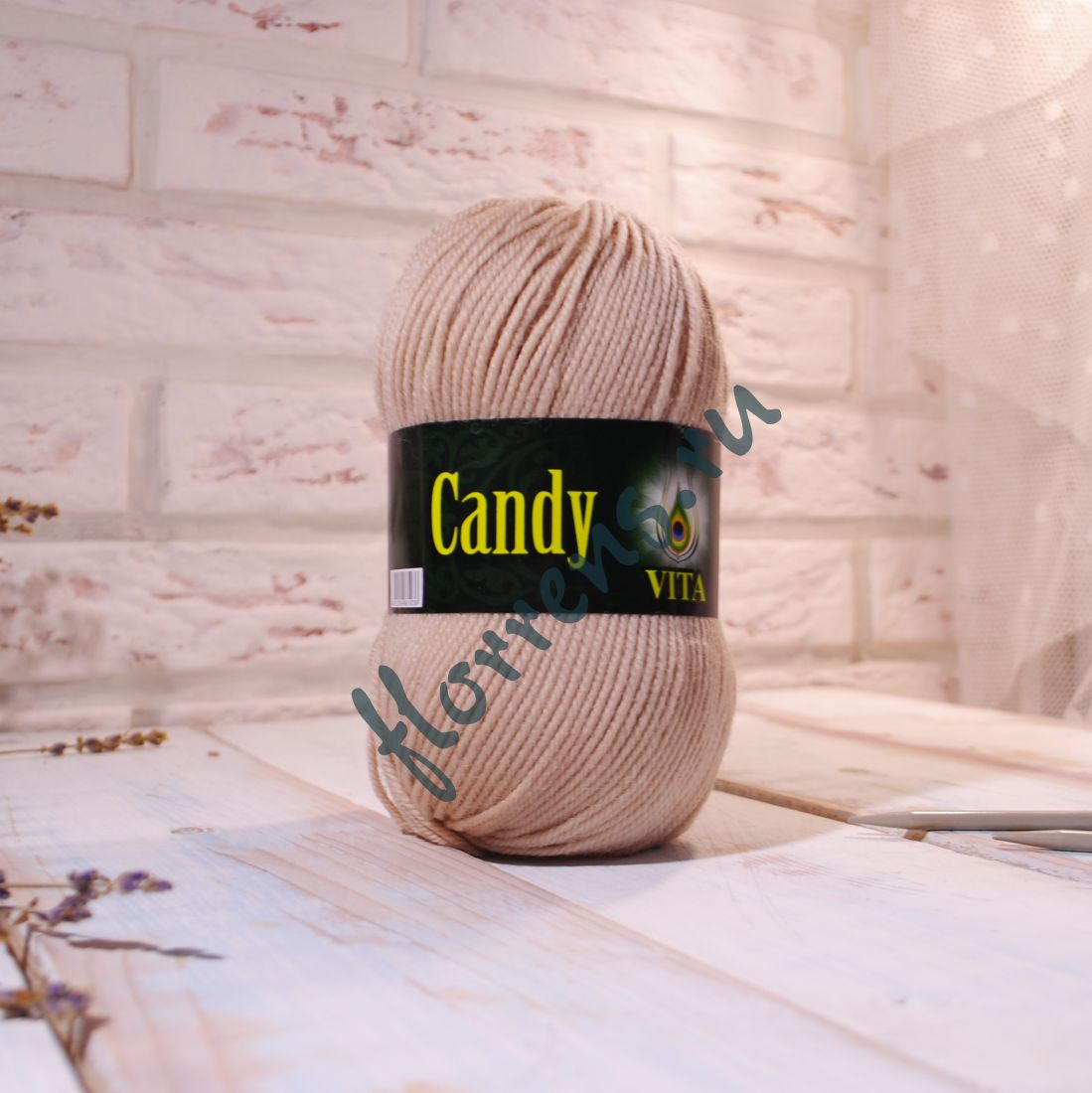 """Пряжа """"Vita"""" Candy / 2518 кофе с молоком"""