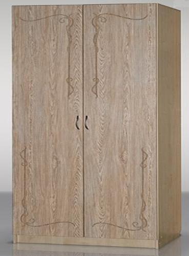 Шкаф Гармония-Рельеф двухстворчатый для платья и белья с возможностью выбора размера