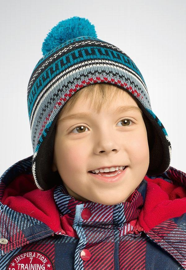 Теплая шапка для мальчика Егорка
