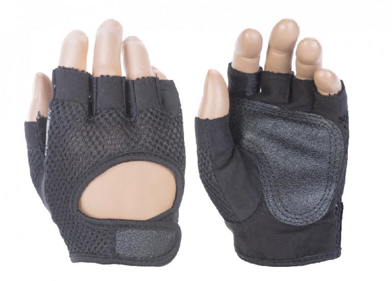 Перчатки атлетические INDIGO IR 97877 (кожа, сетка)