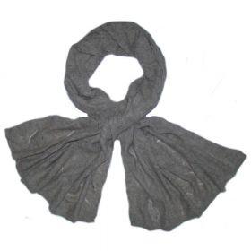 Палантин из монгольской шерсти 180*70 см [Серый]