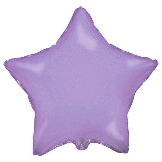 Звезда лиловая большая шар фольгированный с гелием
