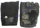 Перчатки атлетические Сетка черные