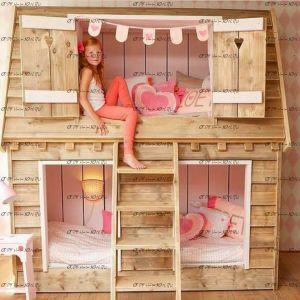 Кровать-домик двухъярусная №24 Wood