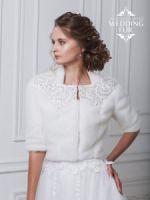 Свадебное болеро шубки из норки для невесты прокат меха фото