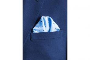 Английский нагрудный платок Скай Блю Дотти  SKY BLUE MULTI DOTTY SILK POCKET SQUARE