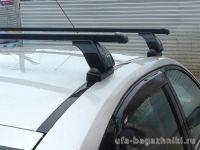 Багажник на крышу BMW 3-serie E90, Lux, прямоугольные стальные дуги