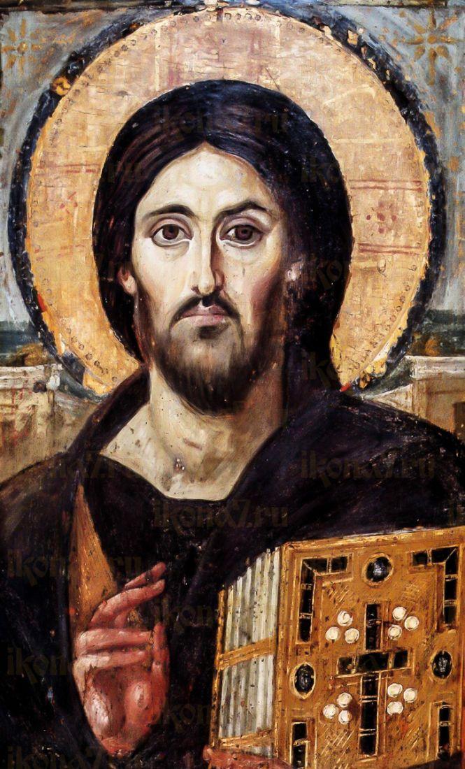 Икона Христос Пантократор Синайский (копия старинной)