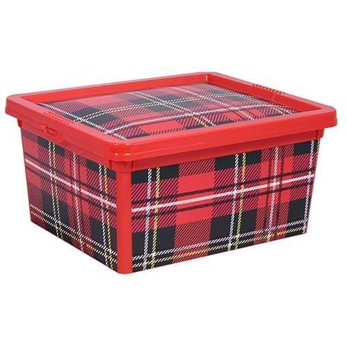 Ящик Деко красная клетка 2 л. , арт. 2355