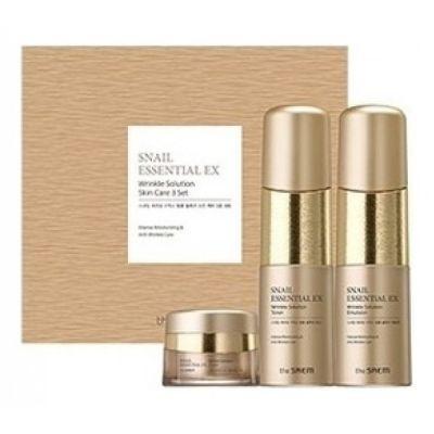 Набор уходовый антивозрастной The SAEM Snail Essential EX Wrinkle Solution Skin Care 2 Set 150мл*150мл*30мл
