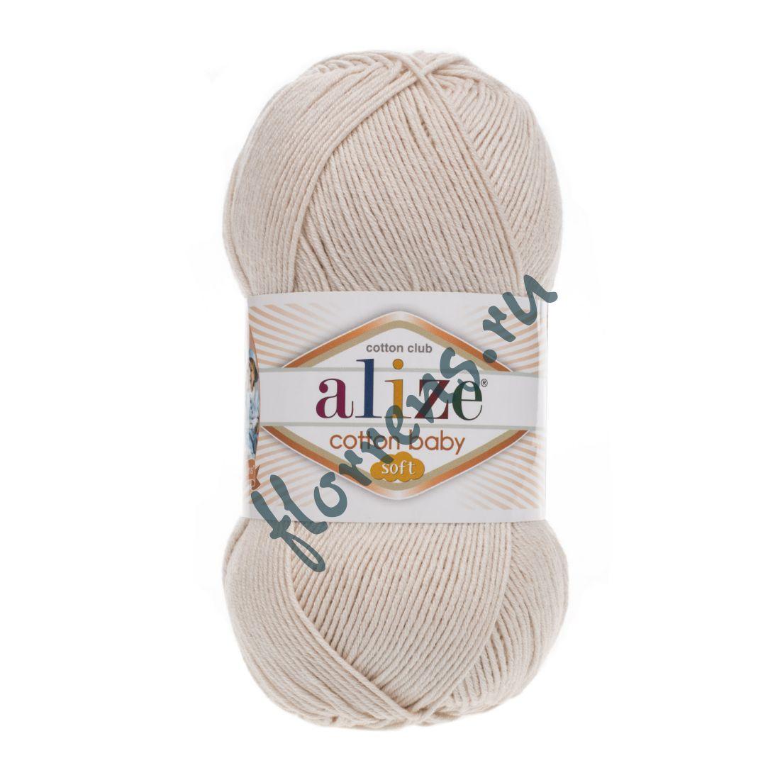 Пряжа Alize Cotton Baby soft / 67 молочно-бежевый