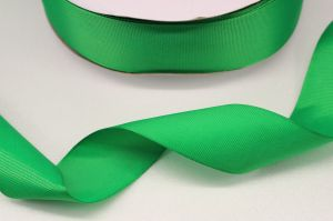 Лента репсовая однотонная 15 мм, длина 25 ярдов, цвет: зеленый