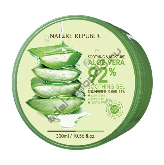 "NATURE REPUBLIC - Гель для лица и тела ""Soothing & Moisture Aloe Vera 92% Soothing Gel"", 300 мл"