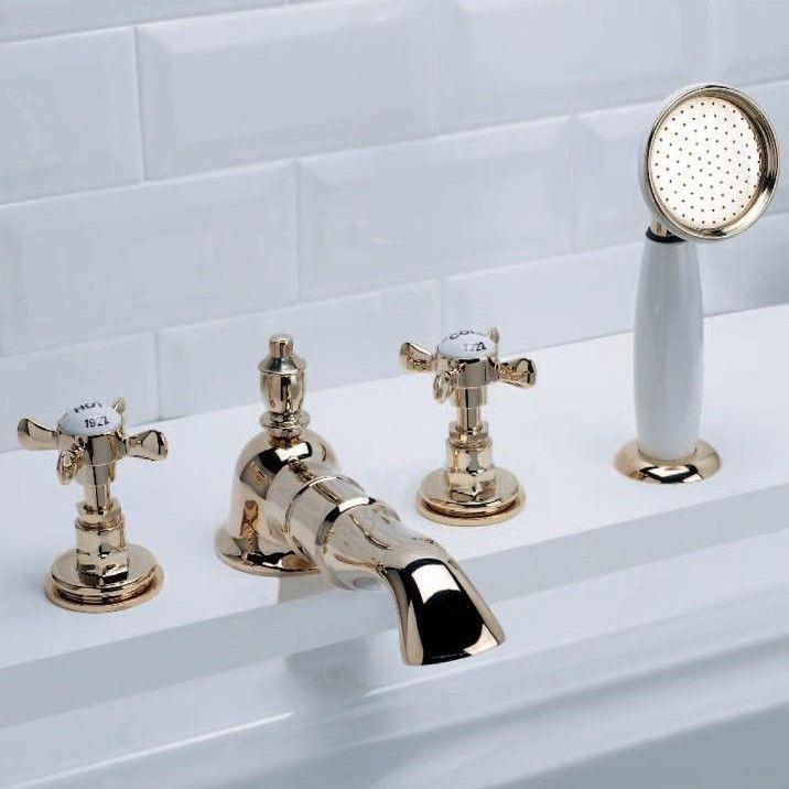 Вентильный смеситель Devon&Devon Antique ada48 на бортик ванны ФОТО