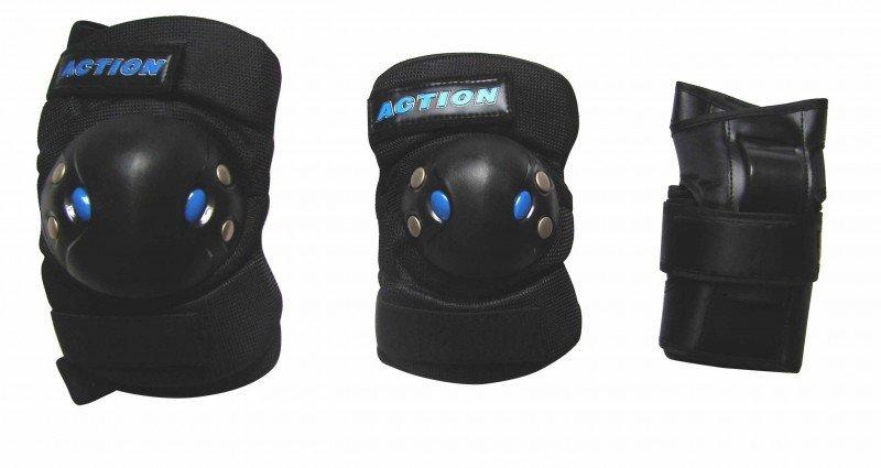 Комплект защиты для роликовых коньков Action PW-305