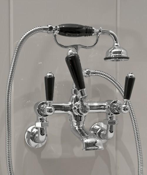 Смеситель для ванны и душа Devon&Devon Black Dandy MARF40M ФОТО