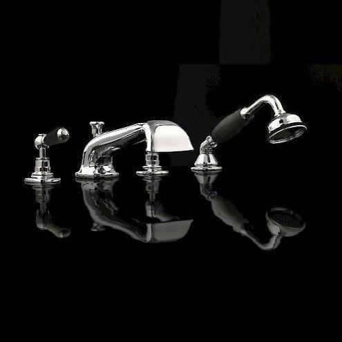 Смеситель для ванны и душа Devon&Devon Black Dandy MARF464 ФОТО