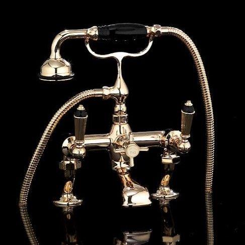 Смеситель для ванны и душа Devon&Devon Black Diamond BLD70B ФОТО