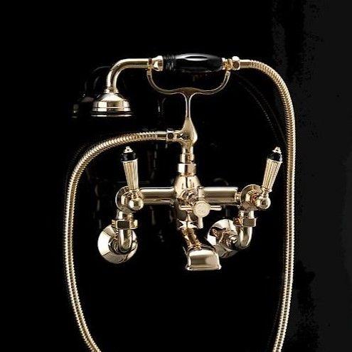 Смеситель для ванны и душа Devon&Devon Black Diamond BLD70M ФОТО