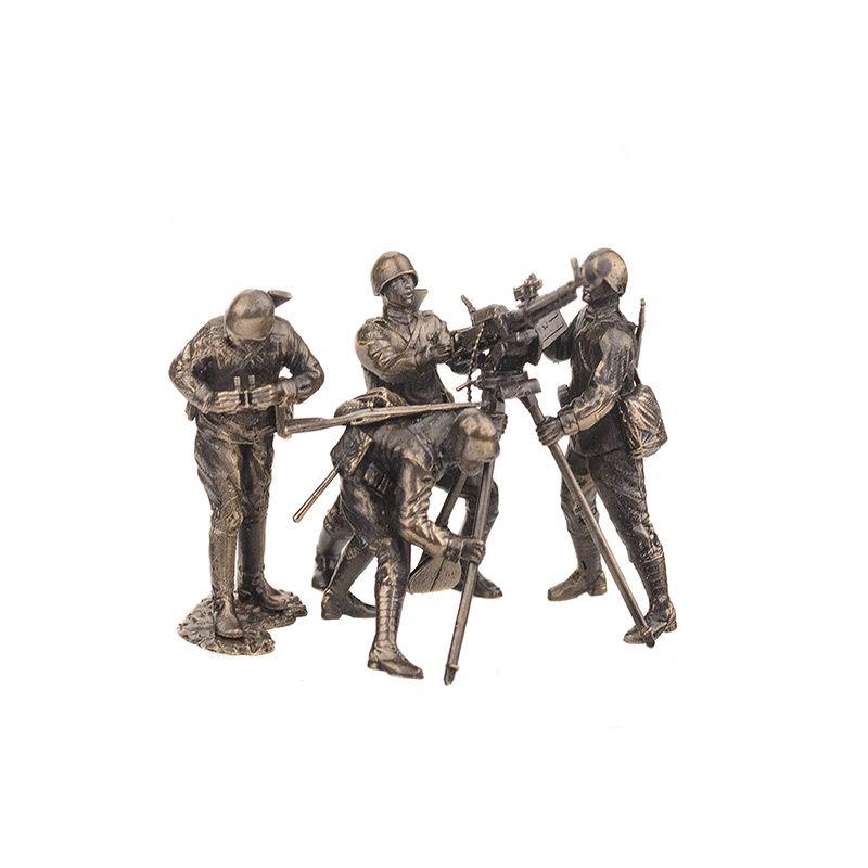 """Набор солдатиков """"Расчет с крупнокалиберным пулемётом ДШК(4шт, 1:35)"""""""