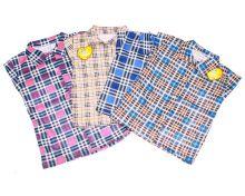 """Рубашка в клетку C-KF421(p)-SU (супрем)   Код товара 01637   Оптом от производителя """"Мамин Малыш""""   Размеры 80-86-92-98-104   Цвет в ассортименте"""