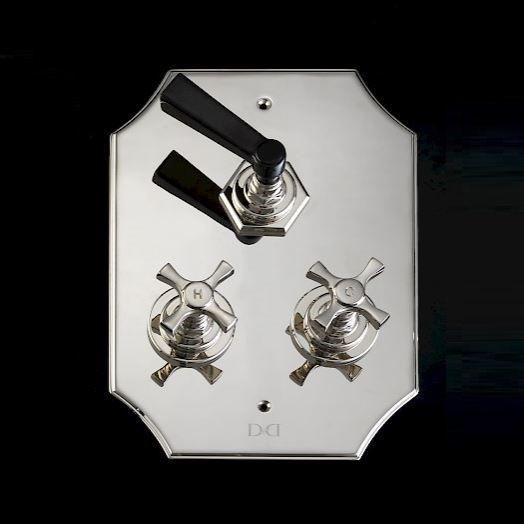 Devon&Devon Jubilee Black Cross смеситель для ванны/душа adjbl1059 ФОТО