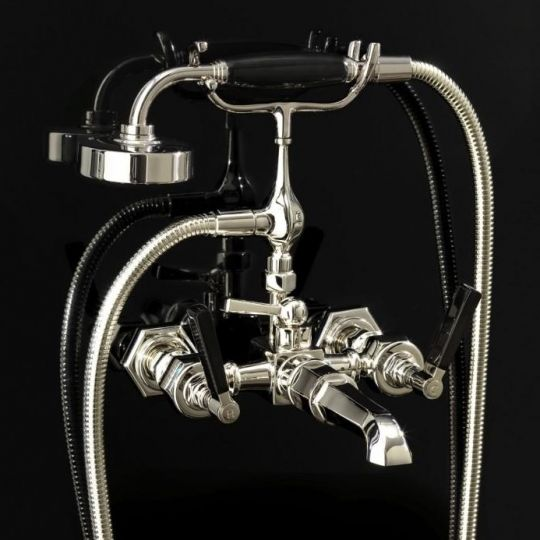Devon&Devon Jubilee Black Lever для ванны/душа adjbl34