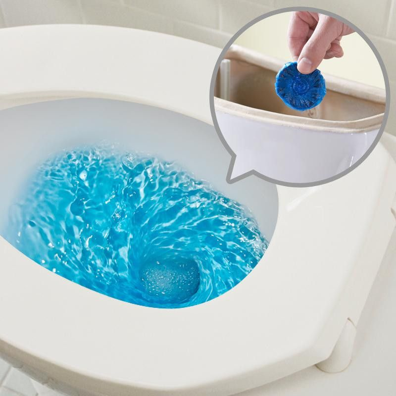 Чистящие таблетки для сливного бочка унитаза Blue Bubble, 3 шт