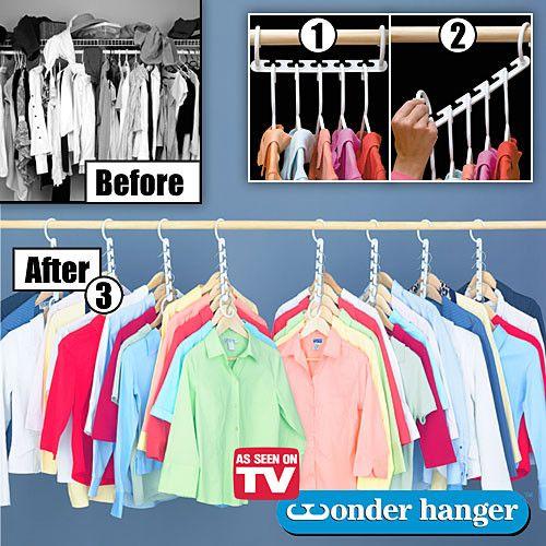 Вешалка Для Одежды Wonder Hanger (8 шт)