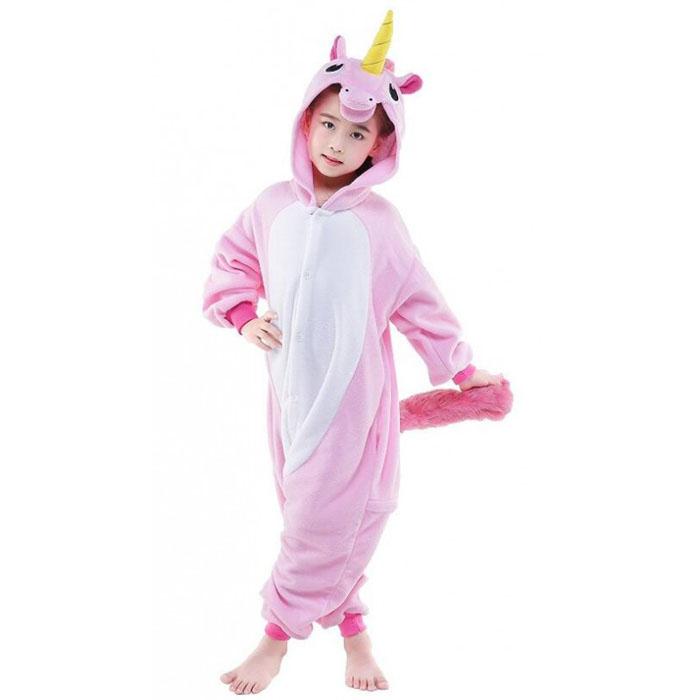 Пижама Кигуруми Детская Единорог Розовый_02