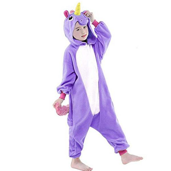 Пижама Кигуруми Детская Единорог Фиолетовый_02
