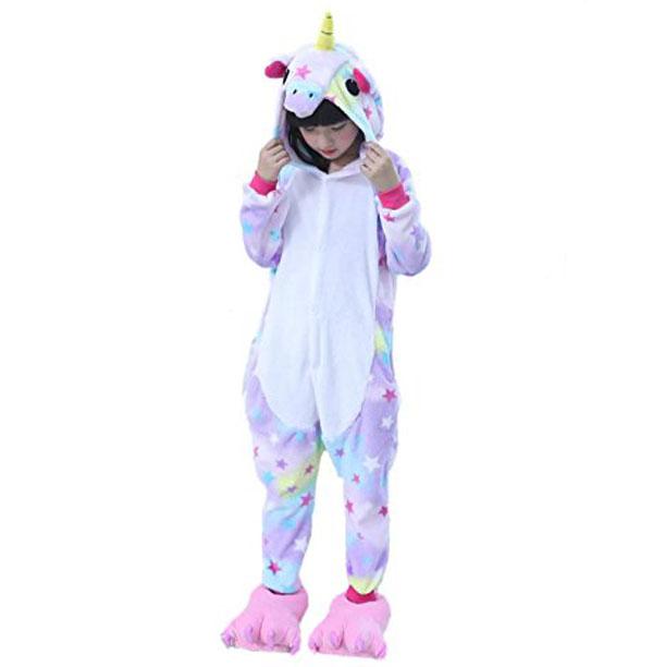 Пижама Кигуруми Детская Единорог Звездный_01
