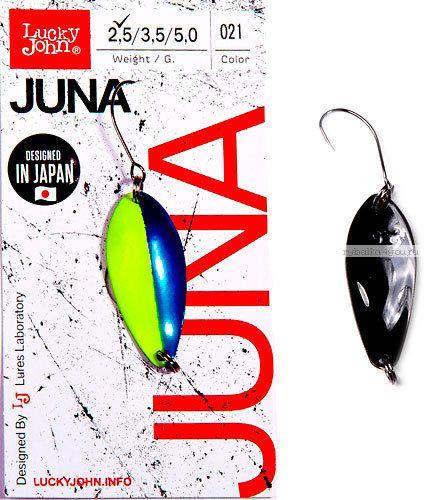 Купить Блесна колеблющаяся Lucky John Juna 2,5 гр / 30 мм цвет: 021