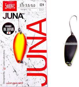Блесна колеблющаяся Lucky John Juna 2,5 гр / 30 мм / цвет: 024