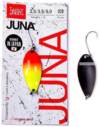 Купить Блесна колеблющаяся Lucky John Juna 2,5 гр / 30 мм цвет: 028