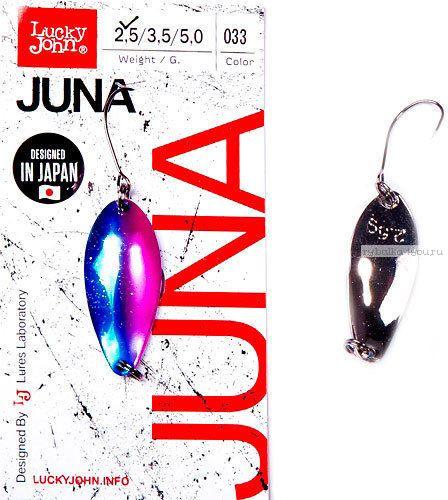Купить Блесна колеблющаяся Lucky John Juna 2,5 гр / 30 мм цвет: 033