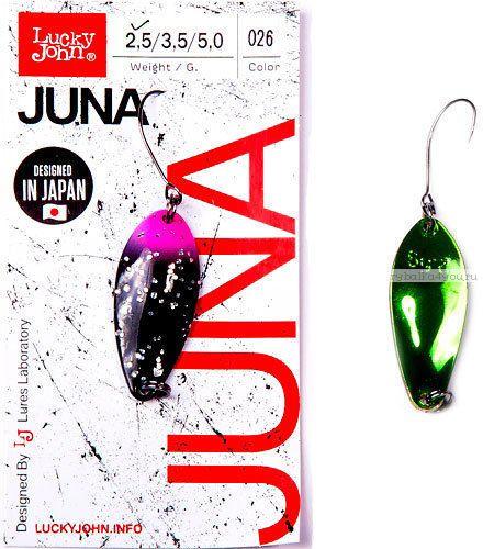 Купить Блесна колеблющаяся Lucky John Juna 3,5 гр / 33 мм цвет: 026