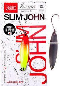 Блесна колеблющаяся Lucky John Slim John 2,5 гр / 37 мм / цвет: 028