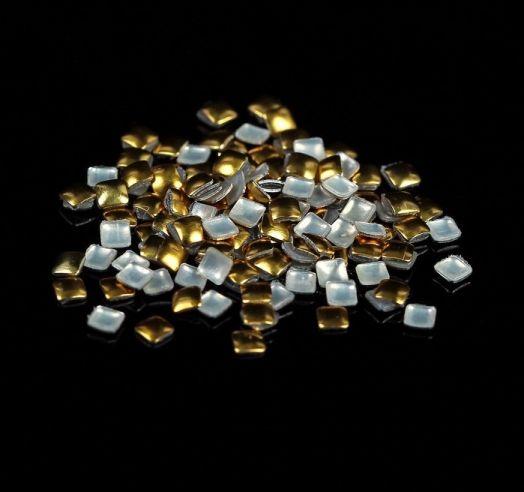 Заклёпки для дизайна ногтей Квадрат, цвет золотой